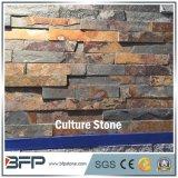 連結の石塀のタイルのための暗い錆ついたスタックされた棚文化石