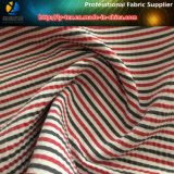 Crinkle, Poliéster / Nylon Stripe Fibra Tecida Tecida para Camisa