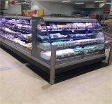 Refroidisseur semi-ouvert d'étalage de Multideck de 3 étagères pour l'épicerie