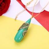 De groene Juwelen van de Vrouwen van de Hars van de Halsband van de Hars Gouden