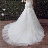 Vestido do vestido de casamento da sereia do querido de 2017 laços (Dream-100026)