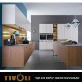 De in het groot Melamine en Witte Schilderende Keukenkasten tivo-0074V van het Ontwerp van de Douane