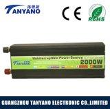 De Omschakelaar van de ZonneMacht van de hoge Frequentie 12V 220V 2000W met de Lader van de Batterij & UPS