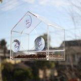 Acrílico transparente Alimentador de Aves Silvestres de la casa de aves alimentadores de la ventana