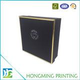 Embalagem de caixa de presente de papel de logotipo de ouro de luxo