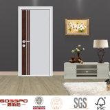 Puerta de madera de aluminio barata ecológica interior del hotel (GSP13-001)