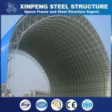 돔 모양 파란 색깔에 의하여 그려지는 벽 강철 구조물 Truss