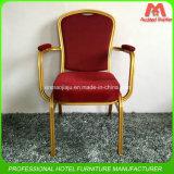 Банкет металла хорошего качества штабелированный алюминиевый обедая стул