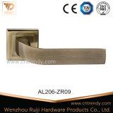 Maneta palanca de aluminio del bloqueo de la maneta de puerta de Zamak en el rosetón (AL206-ZR09)