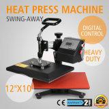 """12 máquina de la sublimación de la camiseta de la transferencia de la prensa del calor de """" X 10 """""""