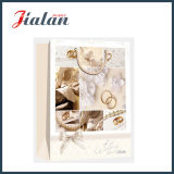 Sacos de papel de empacotamento impressos 4c do presente da compra do anel de casamento do costume