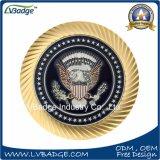 I militari su ordinazione dell'oro/argento del metallo del creatore sfidano la moneta