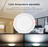 15W RGB+CCT imperméable à l'eau et étanche à l'humidité DEL Downlight d'Updation neuf