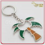 Kokosnuss-Palmen-Art-Metallflaschen-Öffner mit Schlüsselring