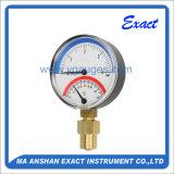 Thermo-Manomètre, type inférieur de Connecton, mesure de la Manomètre-Température