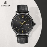 AUTOMATIC Mechanical Mens Classic Black Leather sport Wrist Watch 72724