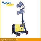 Torretta di illuminazione portatile Rplt-1600 con la lampada Halide di metallo 4*400W