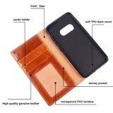 Handmade 붙박이 대 카드 구멍 홀더 Samsung S8를 위한 가득 차있는 털쪽을 겉으로 하여 다듬은 가죽 손가락으로 튀김 지갑 피부 상자