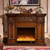 Camino elettrico di stile europeo della mobilia della casa della scultura del MDF (320S)