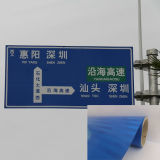 Drapeau extérieur r3fléchissant de câble de PVC de couleur bleue