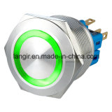 25mm Flat Head Vandalen Momentary 1NO1NC Push Button Switch