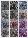 100% Polyester Fabric Crinkle Chiffon Printing Grid voor kledingstuk