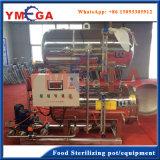 Machine d'autoclave horizontal avec l'eau processus en cascade pour des aliments en conserve