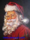 クリスマスの装飾のためにハンドメイドハンドメイドのサンタクロースの油絵