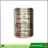 Тисненые металлические винной этикетке/металла этикетке флакона/ наклейки из алюминия