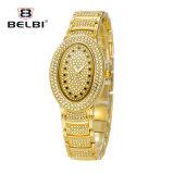 Belbi 형식 호화스러운 다이아몬드 시계 방수 타원형 가득 차있는 별 시리즈 석영 Anolog 시계