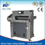 Machine de papier hydraulique Wd-H720r de machine de découpage