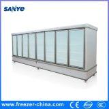 Refrigerador de cristal usado de la visualización del emparedado del refrigerador de la puerta del equipo del colmado