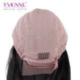 Yvonne 180% 조밀도 자연적인 똑바른 사람의 모발 레이스 정면 가발 브라질 Virgin 머리 자연적인 색깔