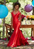 2017 Mermaid off Prom Ombro noite vestidos de festa PD9907
