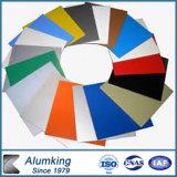 PVDFの上塗を施してあるオレンジ、赤く、黒いEct。 アルミニウム合成のパネルACP