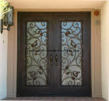 Sicherheits-flache oberste schöne kundenspezifische Eisen-Eintrag-Haustüren