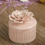 Rectángulo de almacenaje de cerámica redondo de la joyería de Rose (CC-21)