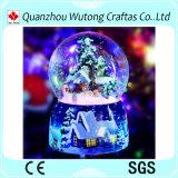Sneeuwbal van de Muziek van de Decoratie van Kerstmis van de Hars van de douane de Binnen