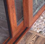 Diseño externo de aluminio esmaltado doble comercial de la parrilla de la puerta deslizante