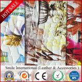 부대 PVC 갯솜 가죽 Factroy Surpise Price&#160를 인쇄하는 꽃 디지털 실크를 위한 PVC 합성 가죽;