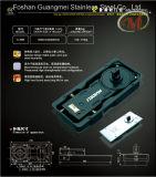 최신 판매 Frameless 유리제 자동적인 결산 튼튼한 여닫이 문 지면 봄 H818
