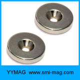 Countersink de Magneet van de Zeldzame aarde van de Ring, het Neodymium van de Magneet met Gat