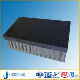 Panneau en pierre noir de nid d'abeilles en verre de fibre pour le revêtement de mur