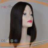 Peruca superior de seda preta curta das mulheres do cabelo humano de Remy do Virgin da cor