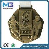 Medalha da moeda da lembrança da alta qualidade 3D das vendas por atacado com borda especial