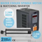 Обновленный охлаженный водой мотор шпинделя 2.2kw и сопрягая инвертор