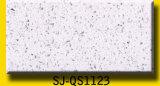 Telha de pedra de quartzo, bancada branca da pedra de quartzo da faísca, laje artificial de quartzo para a venda