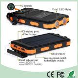 이중 LED 빛 (SC-6688)를 가진 방수 이중 USB 이동 전화 태양 에너지 은행 충전기