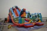 Inflatable divertente Water o Dry Slide, Tri Jezdci (tre cavalieri) Slide, parco di divertimenti Inflatable Water Slide di Large
