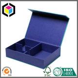 Rectángulo de regalo rígido cercano magnético del papel de la cartulina del color azul